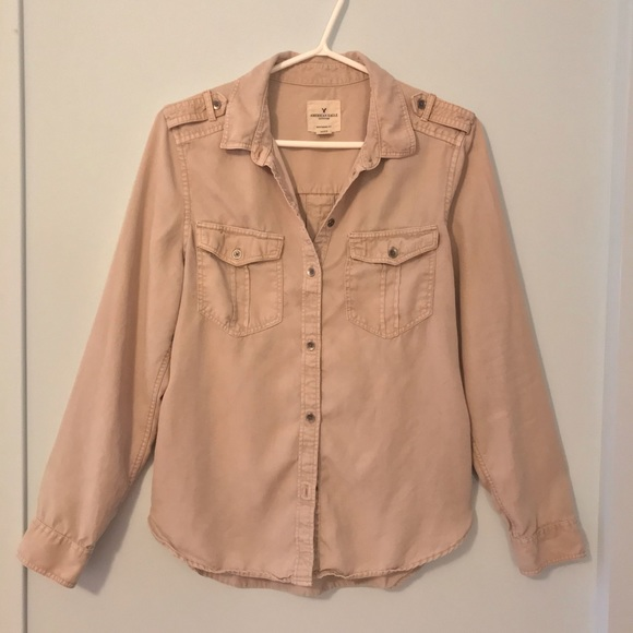 American Eagle Outfitters Tan Flannel